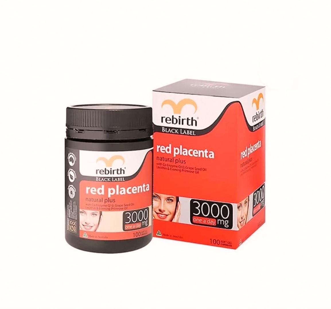 100 Viên uống nhau thai cừu đỏ Rebirth Red Placenta Natural