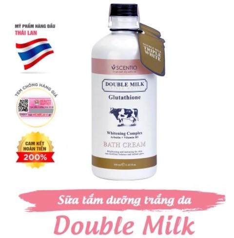 Scentio Double Milk Triple White Sữa tắm trắng da 350ml
