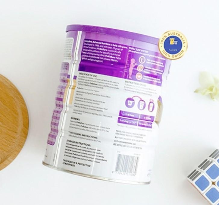 Sữa bột PediaSure Vanilla 850g cho trẻ em từ 1 đến 10 tuổi